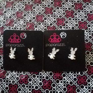 Paparazzi Girl Bunny  Earrings